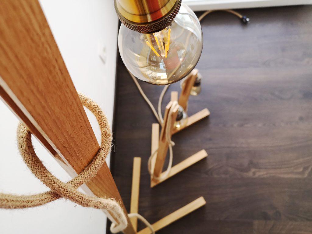 Lampe bois helcé artisanal